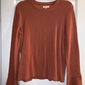 Madewell bell sleeved top